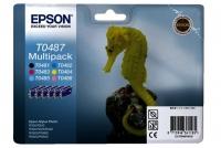 Комплект оригинальных картриджей EPSON T0487 6 шт. (450 стр., черный + голубой + пурпурный + желтый)