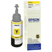 Оригинальный контейнер EPSON T6734 (70 мл., желтый)